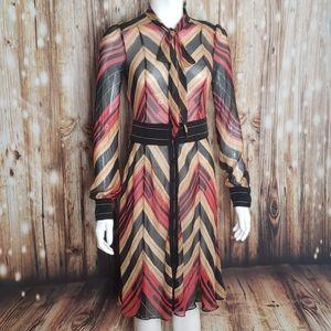 """DVF silk tri-colored """"Hannah"""" dress"""